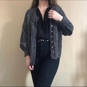 DKNY sparkly Marino wool blend cardigan